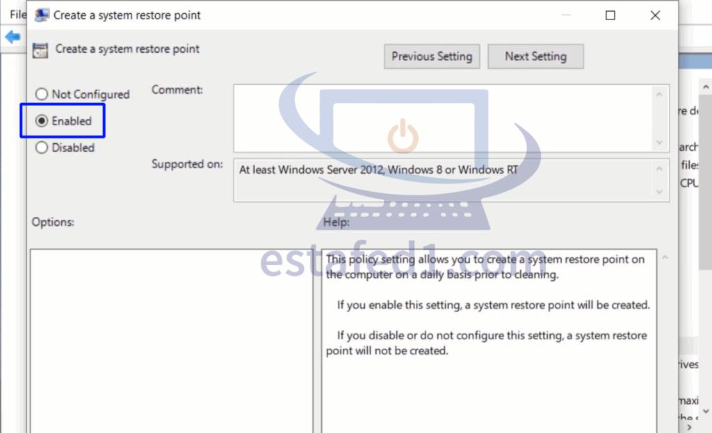 انشاء نقطة استعادة نظام System Restore في الويندوز تلقائياً بشكل يومي