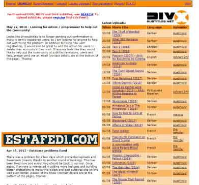 موقع DivX Subtitles من أقوى مواقع للحصول على ترجمات الافلام مجانا