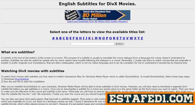 هذا الموقع يقدم أفضل ملفات ترجمة لجميع الأفلام الاجنبية