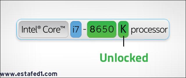 معني حرف K في معالجات انتل Intel