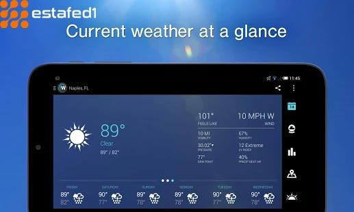 أفضل تطبيق لعرض حالة الطقس على اندرويد
