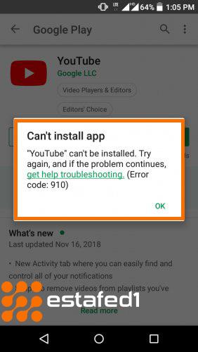 مشكلة التحميل من متجر جوجل بلاي