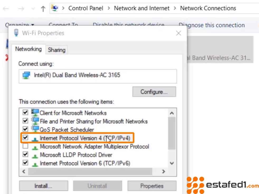 تعيين رقم IP مخصص للكمبيوتر step 3
