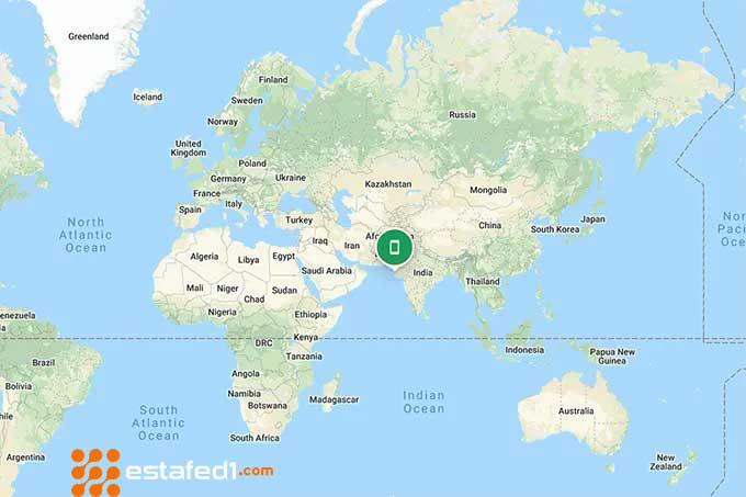 تحديد موقعك من خلال خريطة تطبيق العثور على جهازي