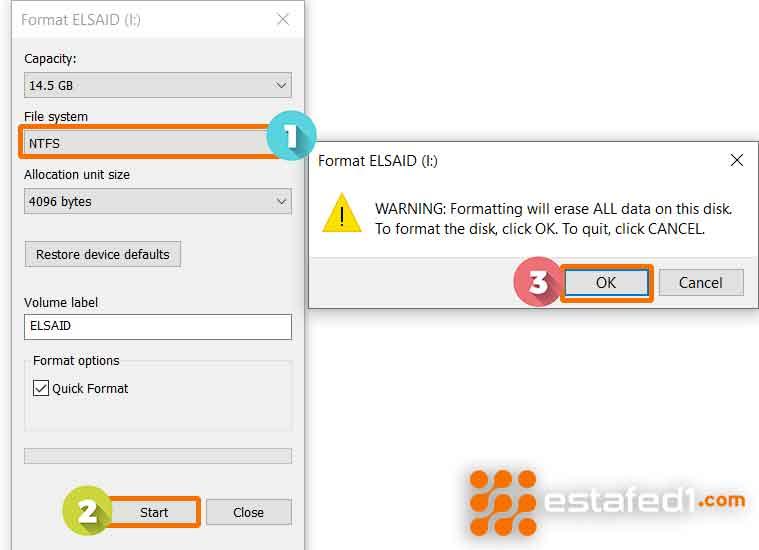إعدادات الفورمات لتسريع نقل الملفات USB