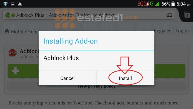 تثبيت اضفاة adblock plus للاندرويد متصفح فايرفوكس install