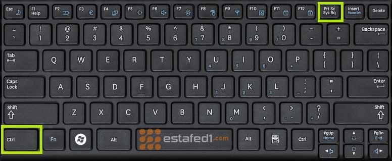 أخذ سكرين شوت من خلال لوحة المفاتيح