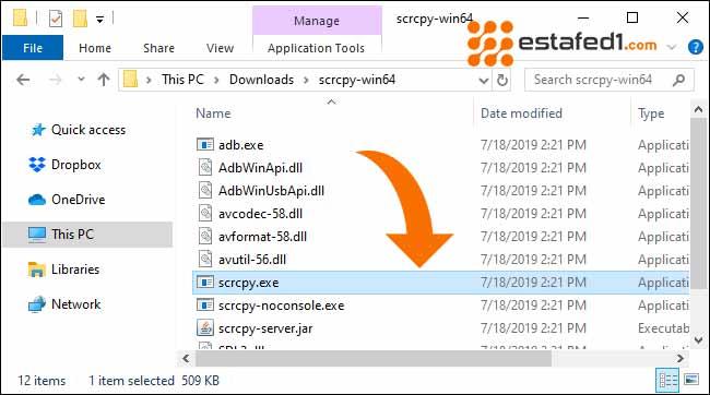 عرض شاشة الأندرويد على الكمبيوتر عن طريق usb | Phone's Screen scrcpy