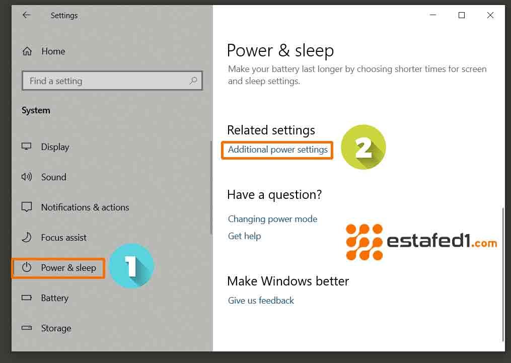 تسريع ويندوز 10 اختيار خطة الطاقة عالية الأداء