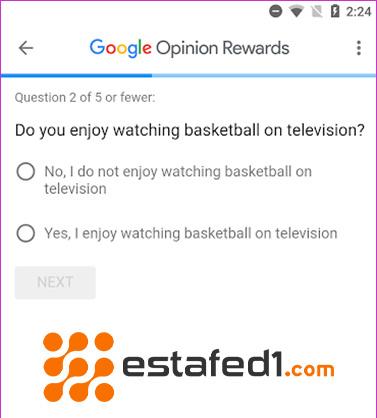 تطبيق Google opinion rewards استطلاعات الرأي جوجل لتثبيت تطبيقات مجانا
