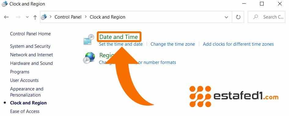 انقر على خيار (Data and Time)