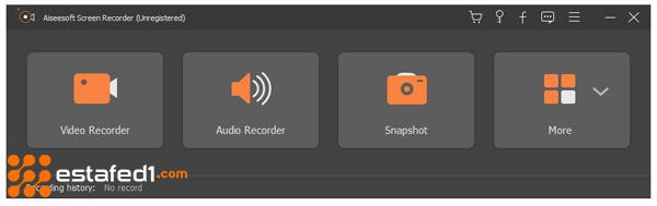 Aiseesoft Screen Recorder  أفضل برنامج تسجيل مكالمات الماسنجر على الكمبيوتر الخطوة الأولى
