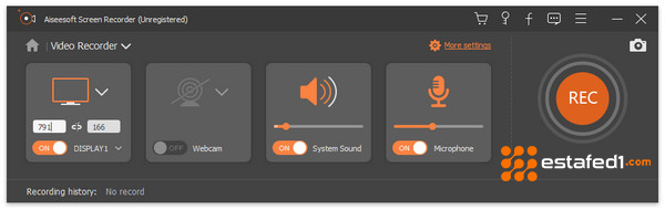 Aiseesoft Screen Recorder  أفضل برنامج تسجيل مكالمات الماسنجر على الكمبيوتر الخطوة التانية