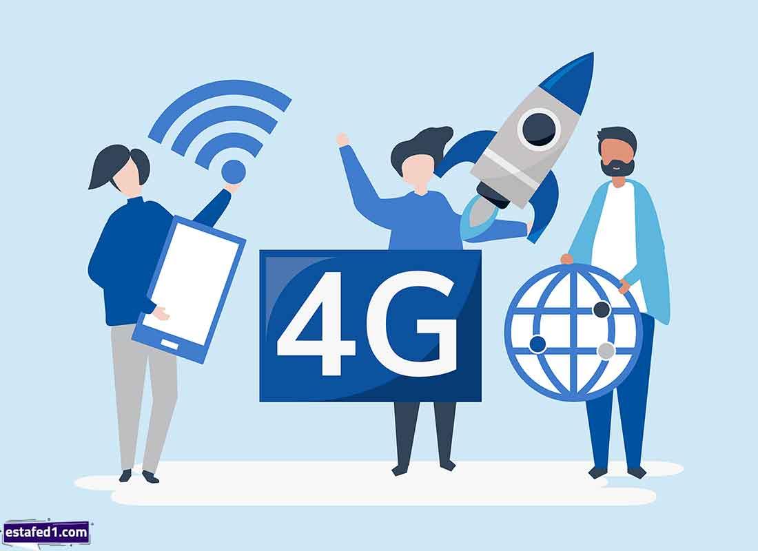 (G - 3G - 4G -H - +H - E) رمز الشبكة 4G