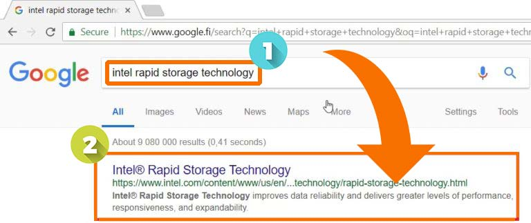 a media driver your computer needs is missing البحث عن كلمة Intel Rapid Storage Technology