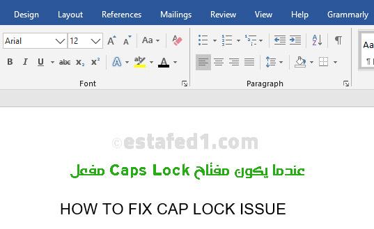 Caps Lock activated