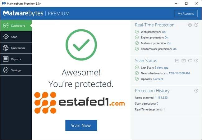 Malwarebytes مع Antivirus