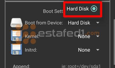 تنصيب ويندوز 7 على الاندرويد- hard disk