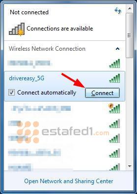 تشغيل الواي فاي في الكمبيوتر ويندوز 7 خطوة 1