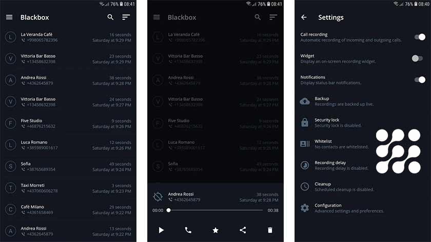 أفضل برنامج تسجيل مكالمات للأندرويد blackbox app