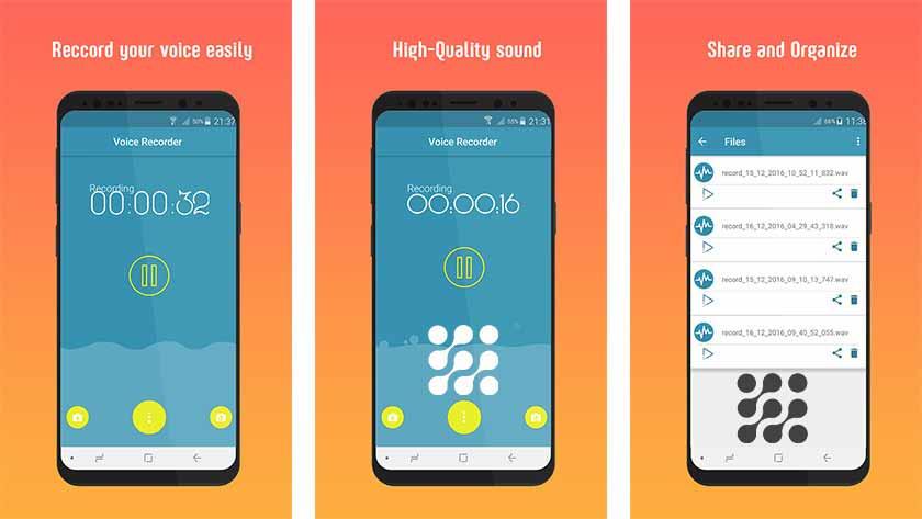 تطبيق Smart Voice Recorder smart voice