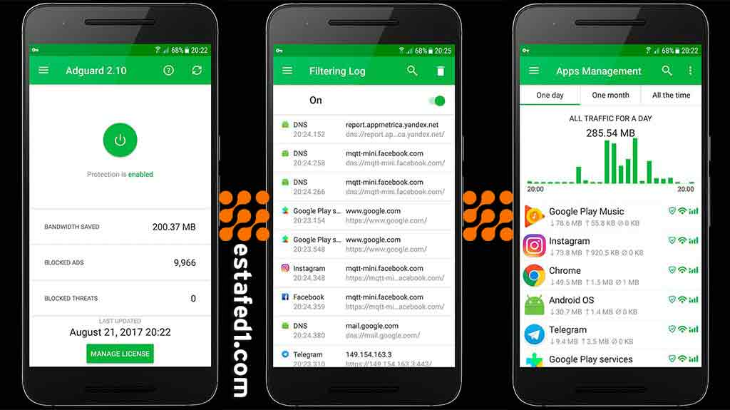adguard منع إعلانات التطبيقات للاندرويد