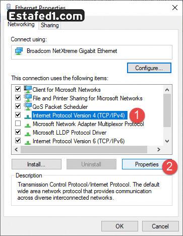 تسريع الانترنت ويندوز 10 ipv 4