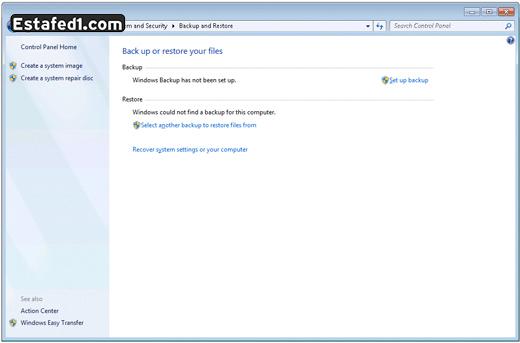 عمل نسخة احتياطية لويندوز 7 5