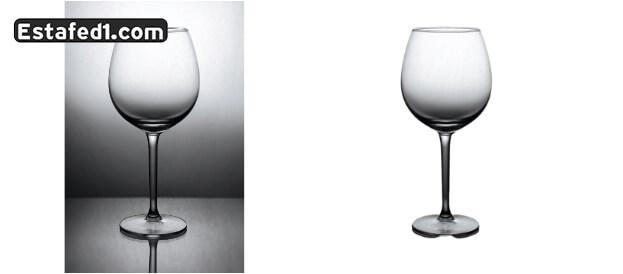 إزالة خلفية صورة زجاج