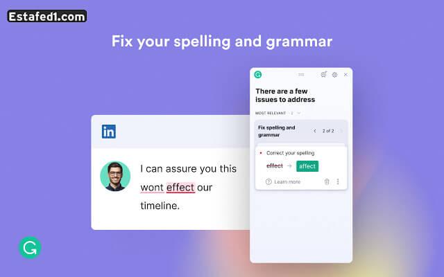أهم إضافات جوجل كروم  Grammarly