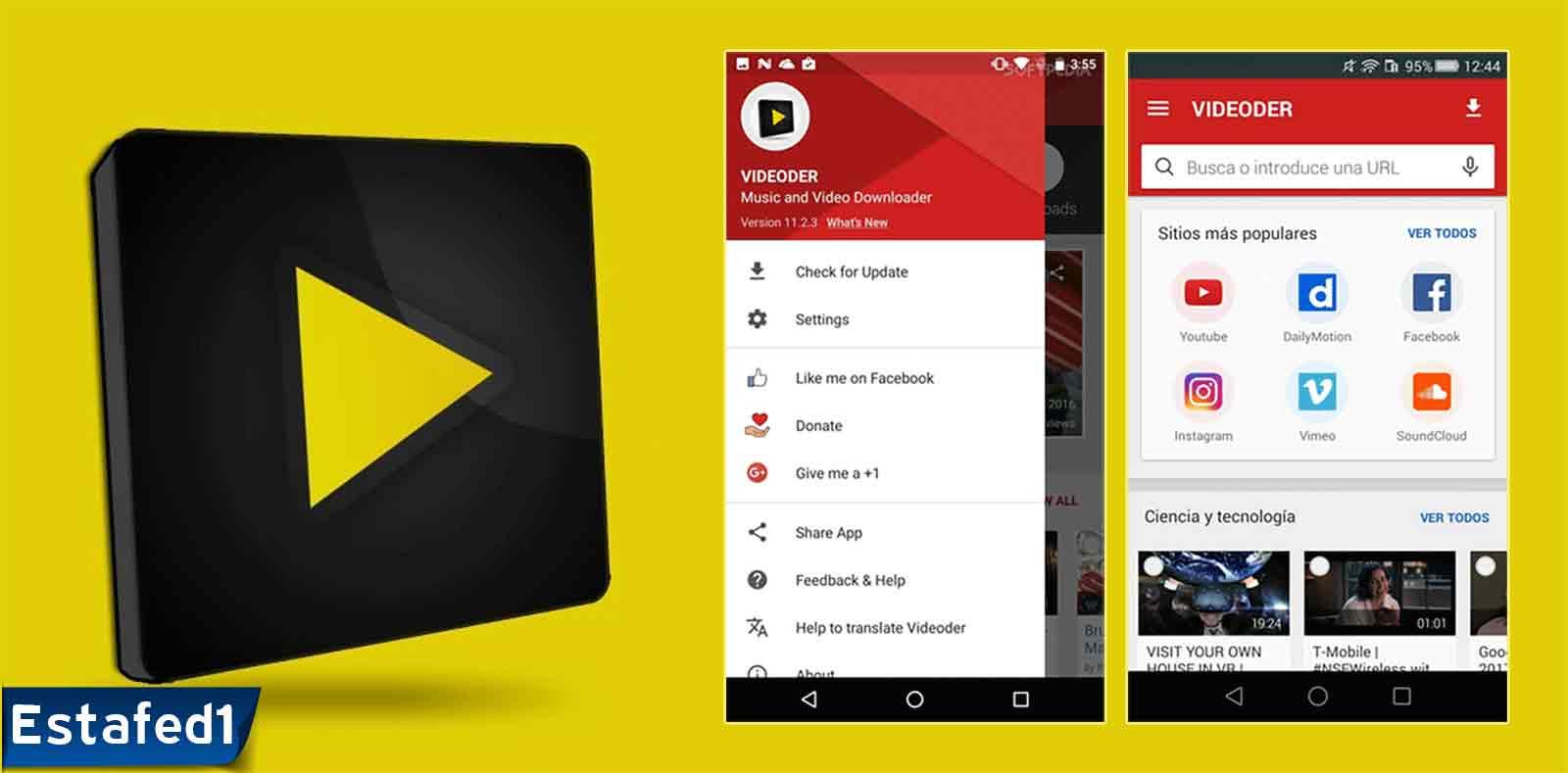 برنامج تنزيل الفيديو من اليوتيوب videoder