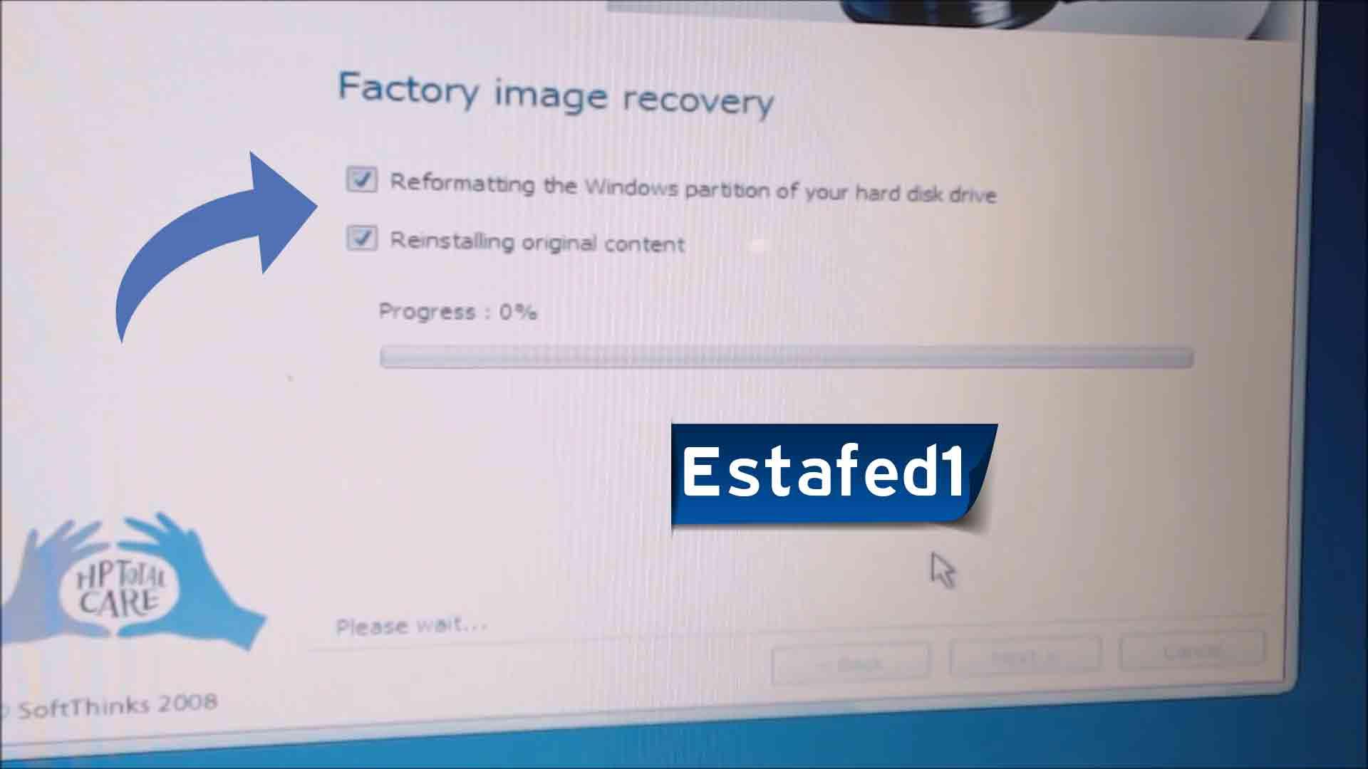 إعادة ضبط المصنع ويندوز 7